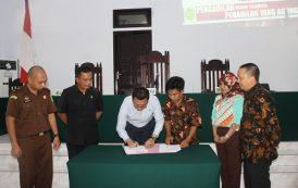 Penandatanganan MOU Posbakum dan Launching Aplikasi ATR & E-SKUM Pada Pengadilan Negeri Tilamuta