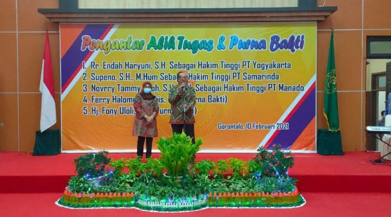Pengantar Alih Tugas dan Purna Bakti Hakim Tinggi, Pejabat Struktural dan Fungsional Pengadilan Tinggi Gorontalo