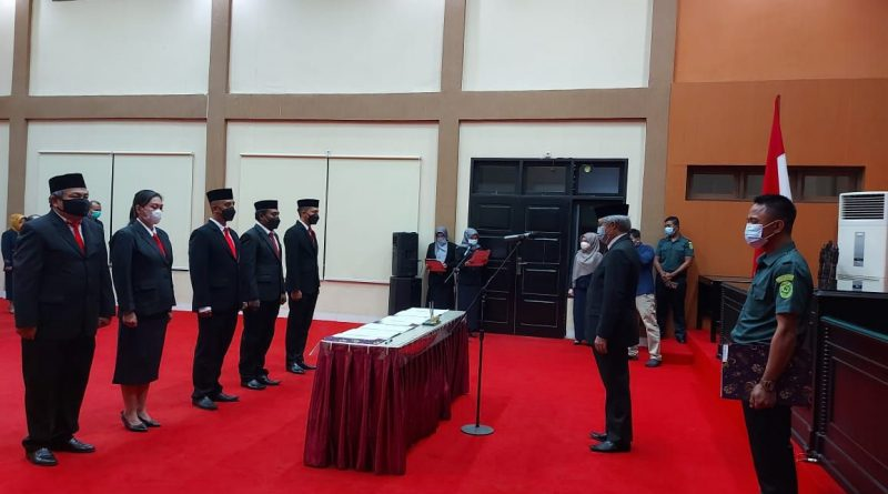 Pelantikan 5 Pejabat Fungsional di Pengadilan Tinggi Gorontalo