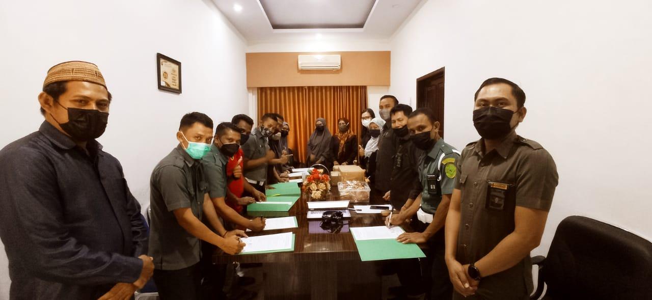 Penyampaian Hasil Kinerja Tenaga Honorer Triwulan I 2021