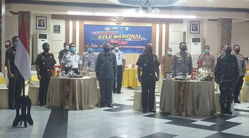 Ketua Pengadilan Tinggi Gorontalo mengikuti acara Launching ETLE Nasional Tahap I