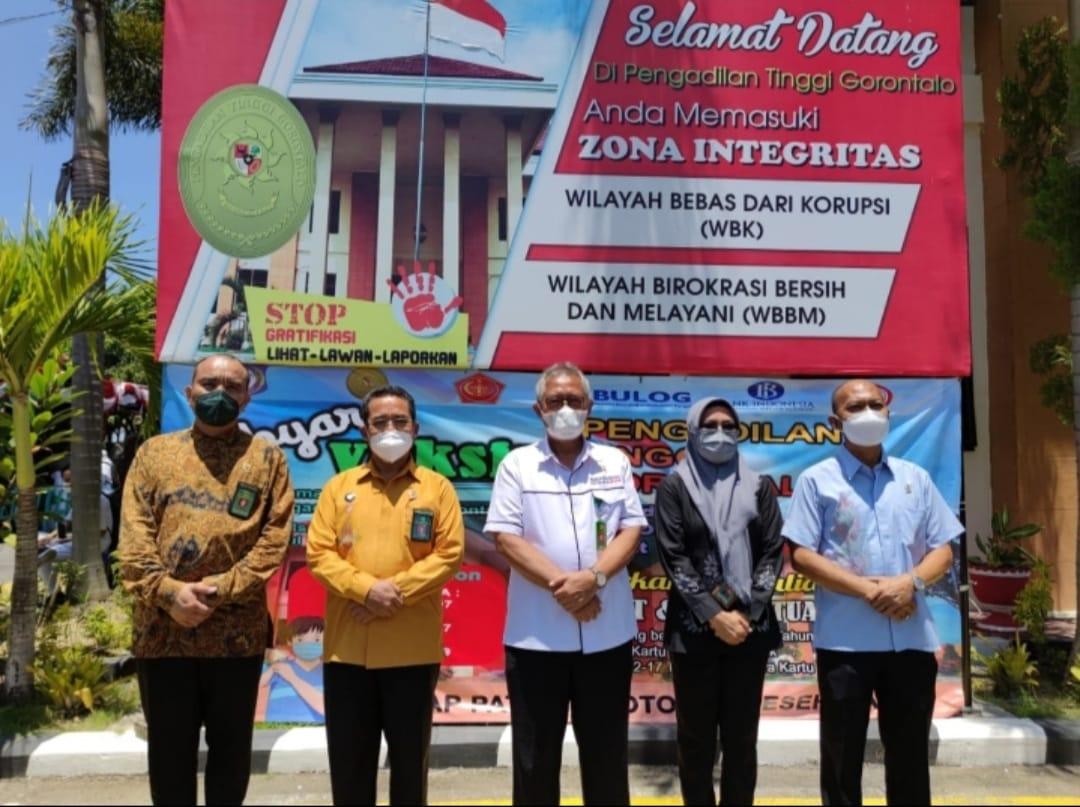 Pelaksanaan Vaksinasi Covid-19 di Pengadilan Tinggi Gorontalo